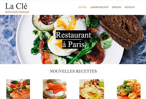 Créer un site pour restaurant