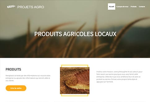 Créer un site d'agriculture