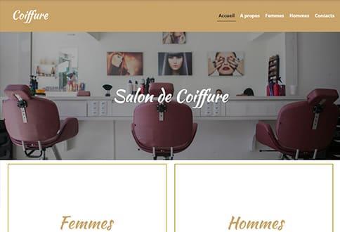 Créer un site de coiffure