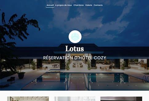 Créer un site pour hotel