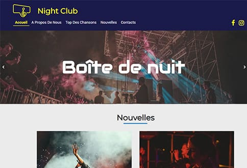 Créer un site pour boîte de nuit