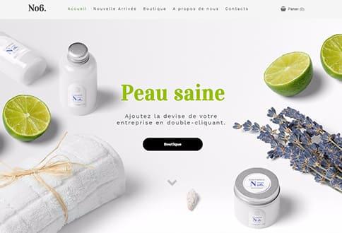 Créer un site de cosmétiques