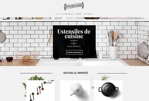 Créer un site de cuisine