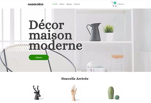 Créer un site de décoration